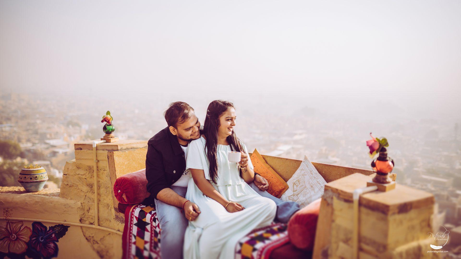 pre-wedding photoshoot in Jaisalmer